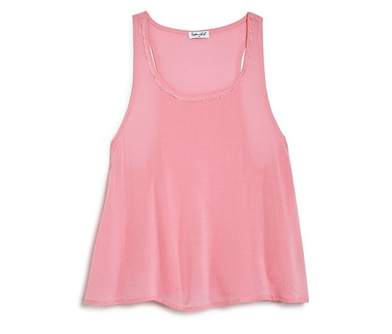Girls' Flared Woven Tank, Pink