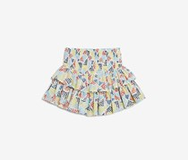 Splendid Girls' Printed Ruffle Skirt, Yellow/Blue Combo