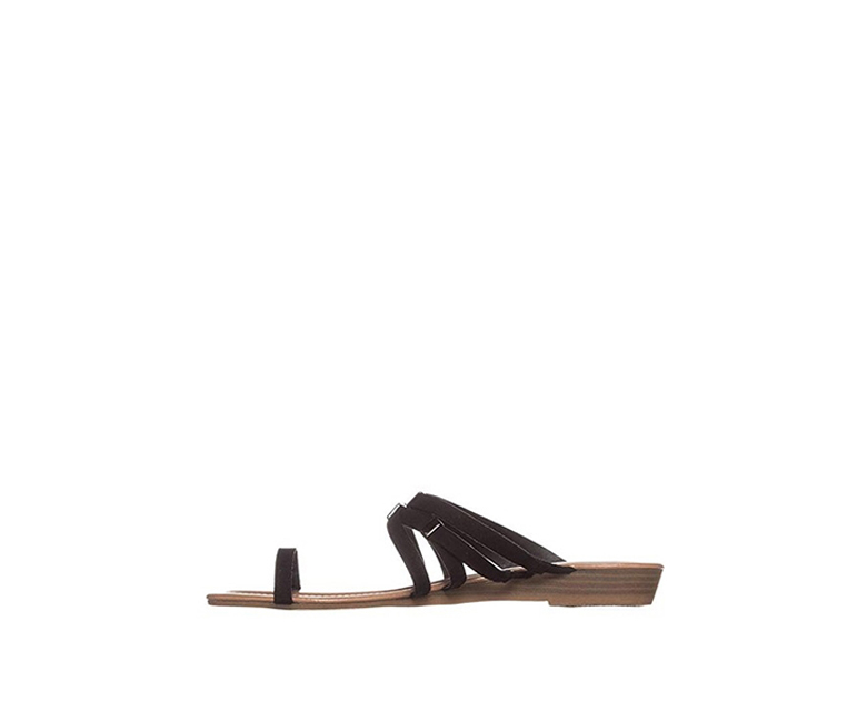 Bar III Vanita Toe-Ring Thong Sandals, Black
