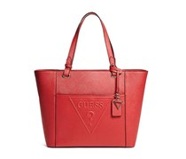 Women Rigden Embossed Large Tote, Red