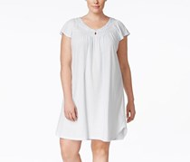 Miss Elaine Pleated Keyhole-Neck Nightgown, True Blue
