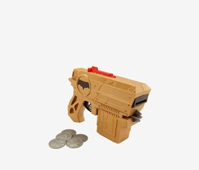 Mattel DC Justice League Batman Disc Blaster Action Figure, Gold