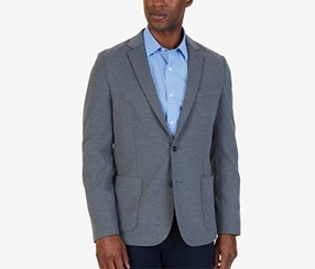 Nautica Men's Classic-Fit Soft-Shoulder Blazer, Grey Heather