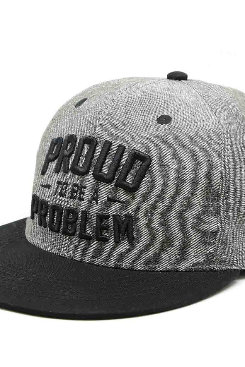 Men's Proud To Be A Problem Caps, Black/Grey