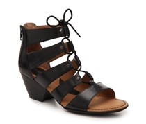 Women Helma Lace-Up Strappy Sandals, Black