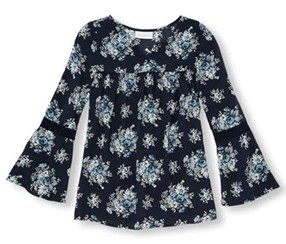 The Children's Place Girl's Long Top, Navy/Blue