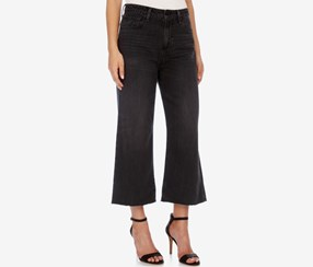 Lucky Brand Cropped Wide-Leg Jeans, Wash Black