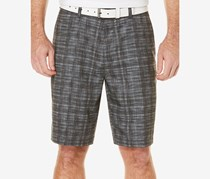 Pga Tour Heathered Plaid Shorts, Caviar