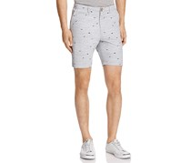 Oxford Lads Shark Print Slim Fit Shorts, Medium Grey