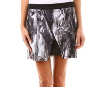 Women Allover Print Skirt, Black Combo