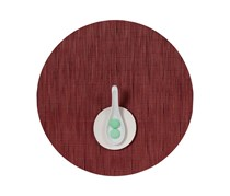 Chilewich Bamboo Round Table Mat, Cranberry