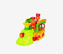 Jim Henson Dino Train Deluxe Train Engine with Buddy & Mr. Conductor Vehicle, Green,/Orange