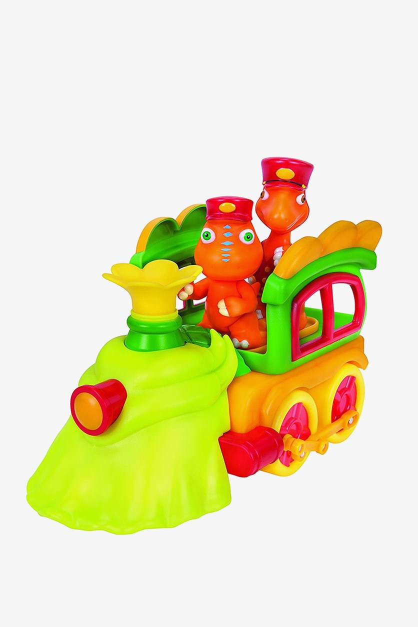 Dino Train Deluxe Train Engine with Buddy & Mr. Conductor Vehicle, Green,/Orange