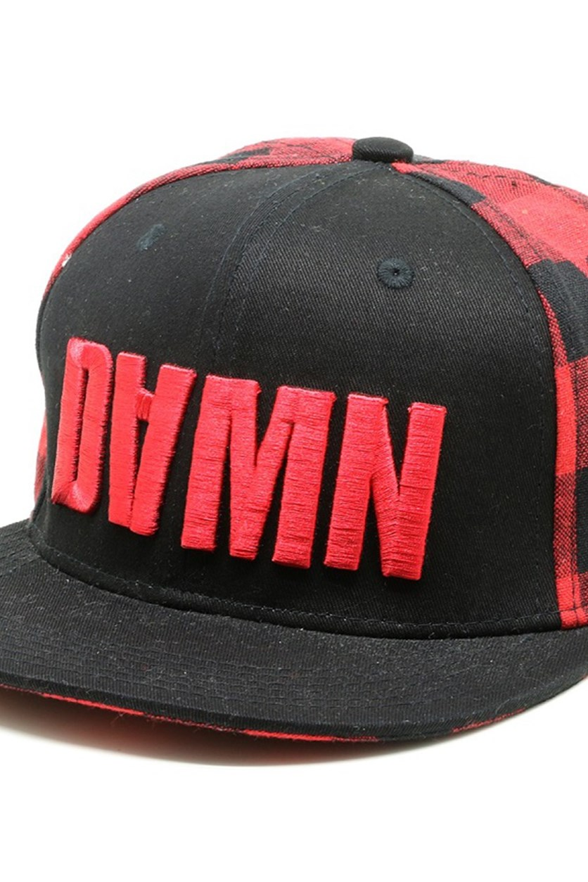 Women's Baseball Cap, Black/Red