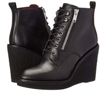 Marc by Marc Jacobs Women's Kit Zip Crepe Wedge Boot, Black