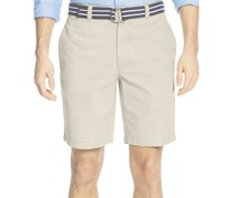 Club Room Belted Flat-Front Shorts, Sand Villa
