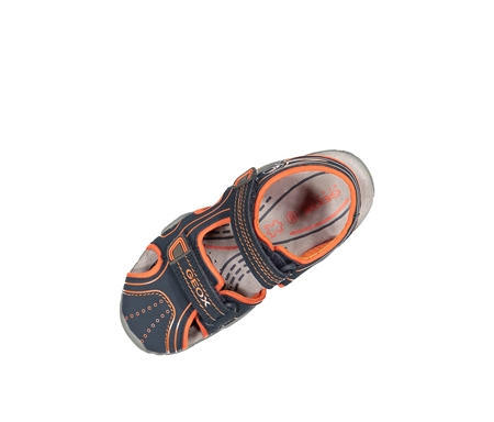 marktfähig am besten geliebt Brauch Geox Boy's Js Kraze Sandals, Navy/Orange - Brands For Less