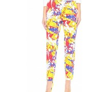 Mohito Women Graphic Print Pants, Yellow/Red/Blue