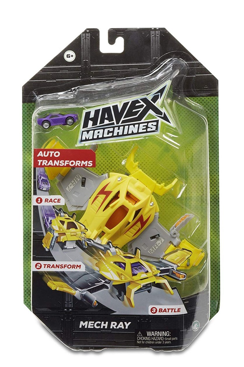 Havex Machines Mech Ray Mr-7 Vehicle, Yellow