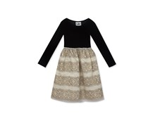 Rare Editions Toddler Girls Embroidered Skirt & Velvet Party Dress, Black