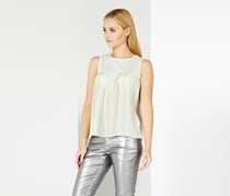 Mohito Womens Pleated Top, Light Mint
