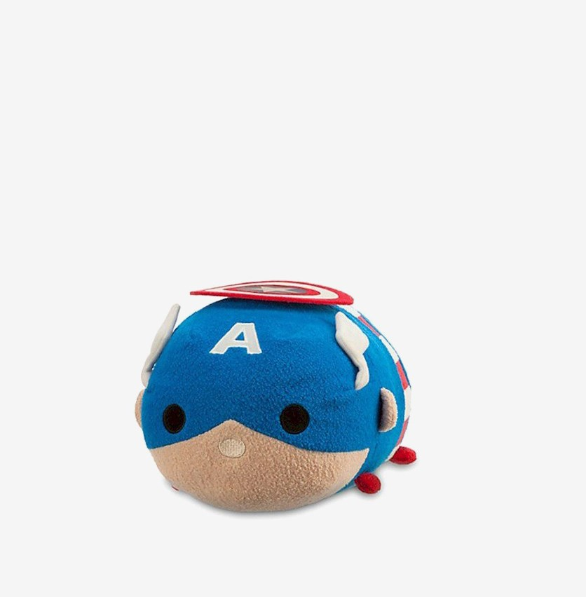 Tsum Tsum Captain America Medium Plush, Blue