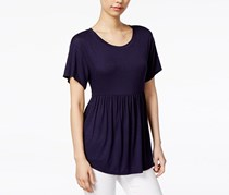 Maison Jules Women Peplum Top, Navy