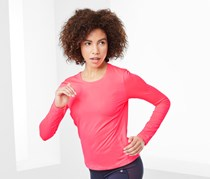 Women's Long-Sleeved Performance Top, Neonpink