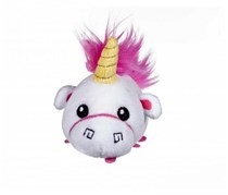 Despicable Me 3 Mini Fluffy Plush, White/Pink/Yellow