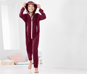 Girl's Onesie, Bordeaux
