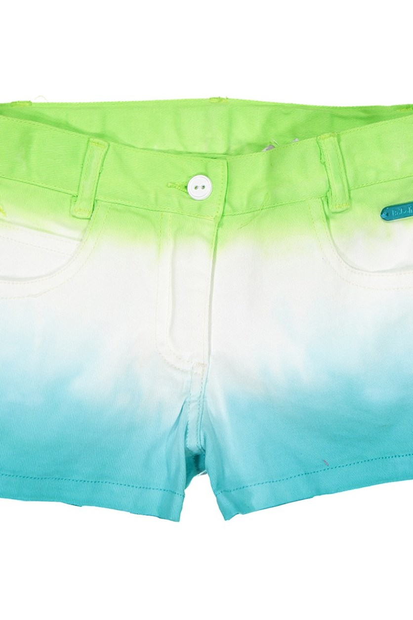 Ombre Shorts, Blue/Green/ White