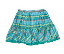Boboli Layered Flared Skirt, Aqua Combo