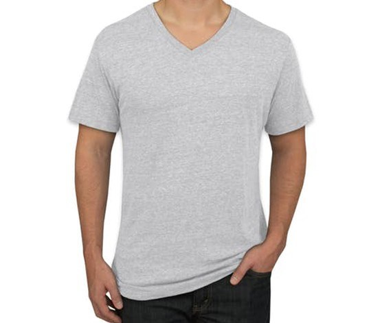 Men's 3 Pack V-Neck T-Shirt, Grey