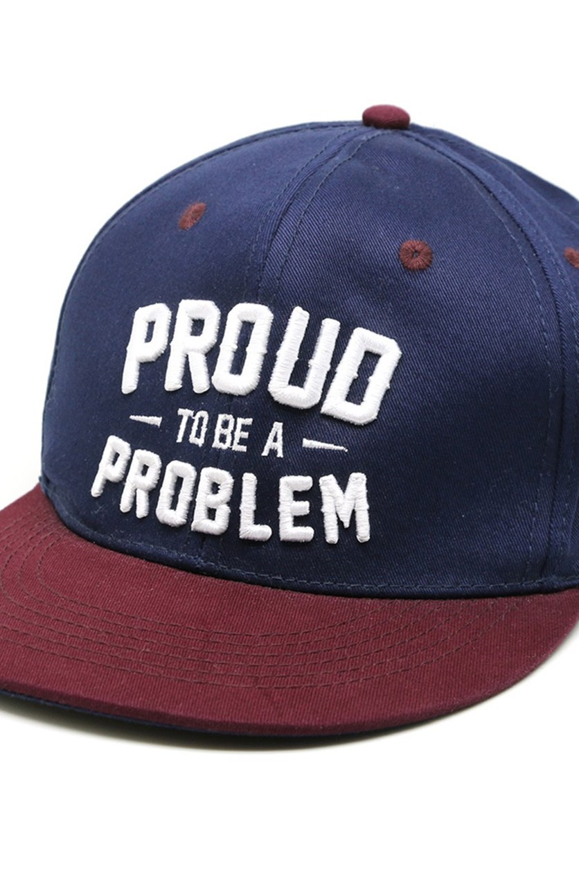 Proud To Be A Problem Cap, Burgundy/Navy