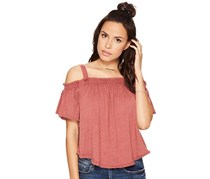 Free People Darling Off-The-Shoulder Top, Bright Red