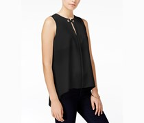 Rachel Roy Keyhole Top, Black