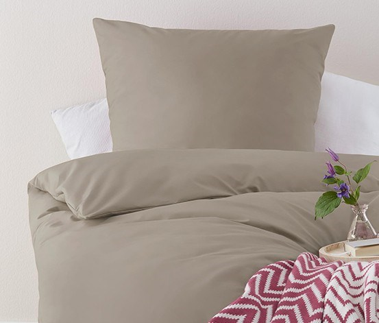 Percale Duvet Set 140 x 200 cm, Grey