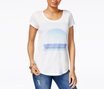 Lucky Brand Scoop-Neck Graphic T-Shirt, Off White