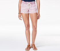 Roxy Juniors' Oceanside Flag Striped Shorts, Red/Blue