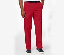 Haggar Men's Classic-Fit Stretch Pants, Red