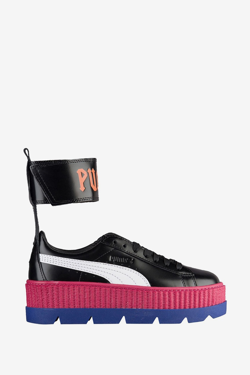 lowest price da914 9bcb0 Shop Puma Puma Women Fenty Ankle Strap Creeper Shoes, Black ...