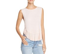 Free People Uptown Ruffled Tank Top, Rose