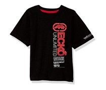 Ecko Unltd Little Boys' Short Sleeve Solid Crew Neck T-Shirt, Black