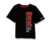 Ecko Unltd Boys' Short Sleeve Solid Crew Neck T-Shirt, Black