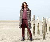 Women's Quilted Coat, Taupe