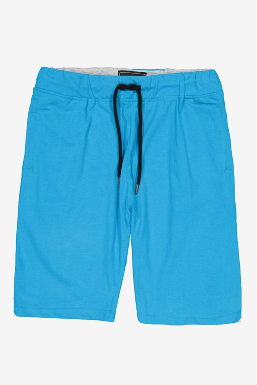 Tahari Mens Jersey Drawstring Shorts, Blue