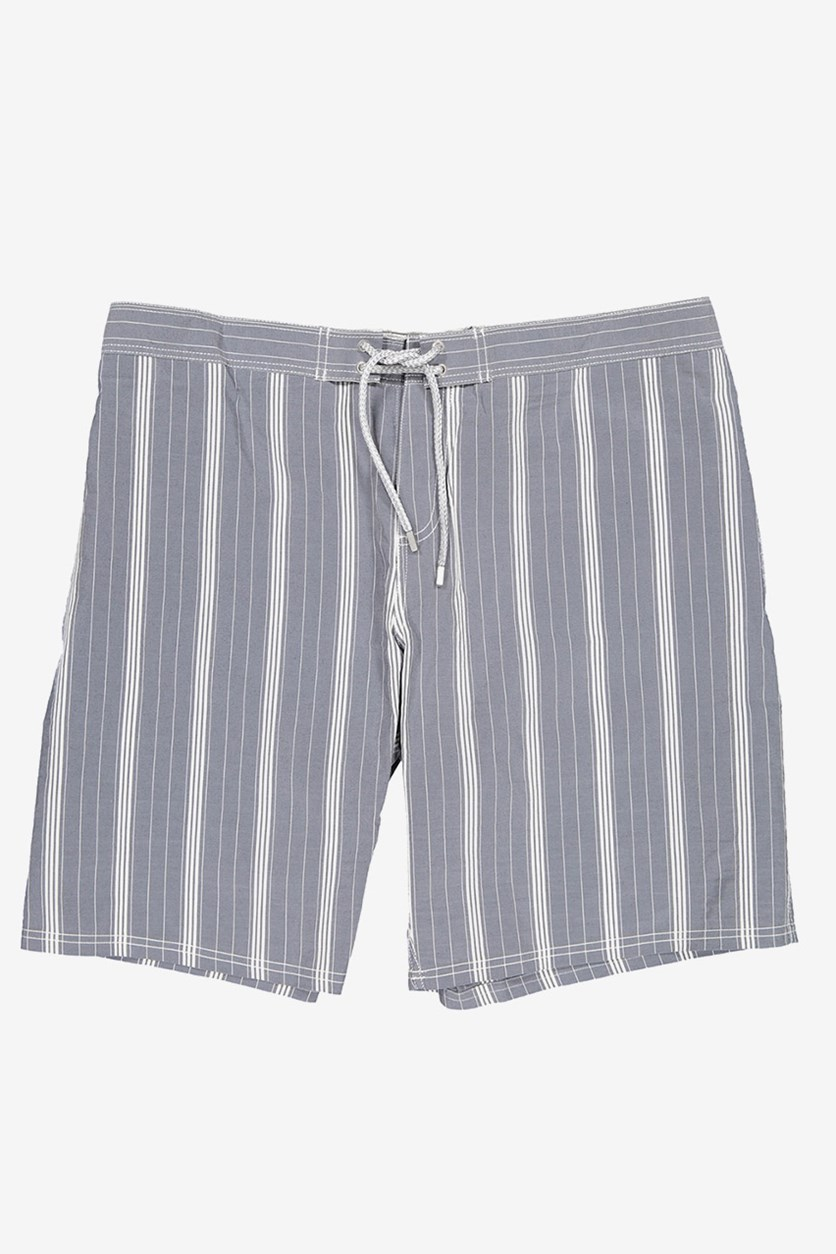 Men's Striped Boardshort, Blue Marine
