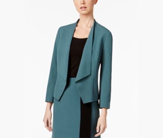 Kiss-Front Blazer, Patina Green