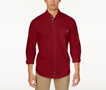 Club Room Men's Classic-Fit Solid Shirt, Maraschino