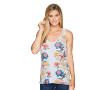 Lucky Brand Printed Floral Tank Top, Light Blue
